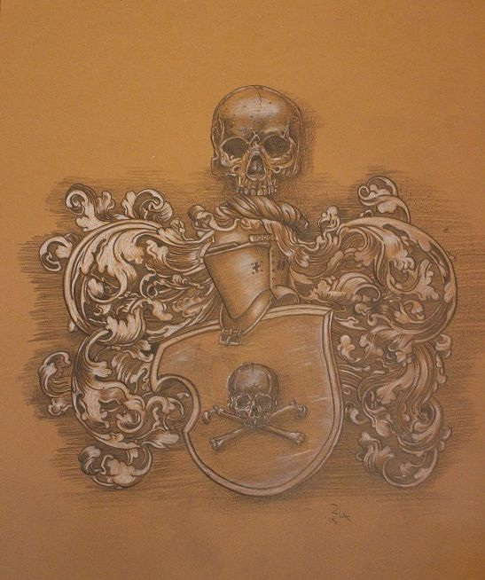 the coat of arms of death ZEICHNUNGEN
